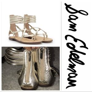 Sam Edelman gold gladiator sandals